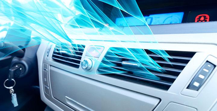 Klimaanlage mit sichtbarem Luftstrom